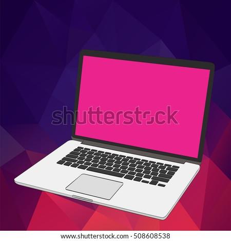vector banner cartoon woman on laptop stock vector 486720670 shutterstock. Black Bedroom Furniture Sets. Home Design Ideas