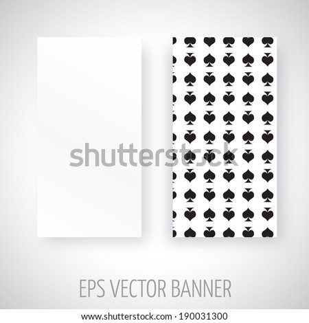 Vector banner with poker spades decoration
