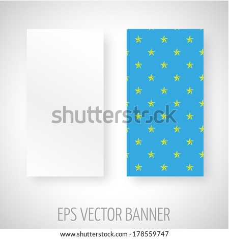 Vector banner with yellow wind rose decoration over blue background