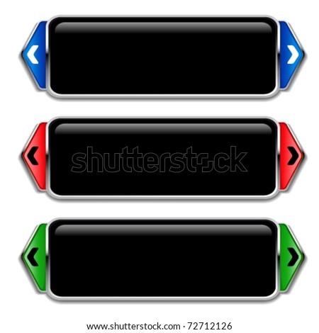 Vector banners for photos - stock vector