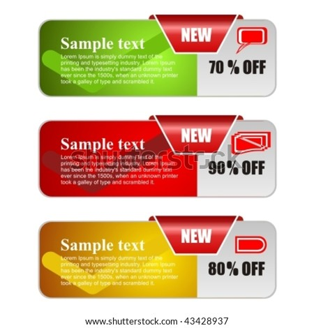 Vector banners for web - stock vector