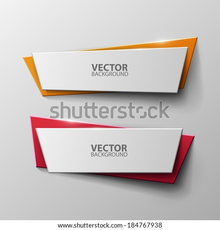 Vector banners set - stock vector