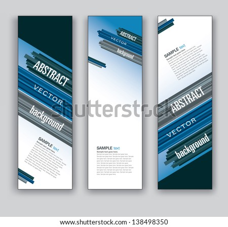 Vector Banners. Set of Three. Abstract Backgrounds in Eps10 Format. - stock vector