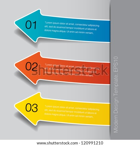 Vector Banners with Arrow Signs and Your Messages for website or infographic - stock vector