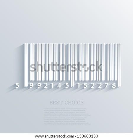 Vector bar code background. Eps10 - stock vector
