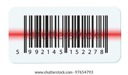 Vector bar-code isolated on white