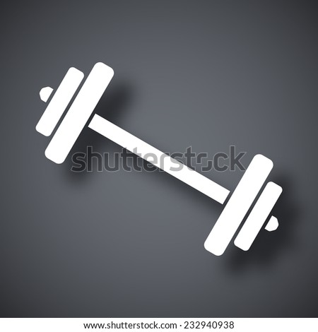 Vector barbell icon - stock vector