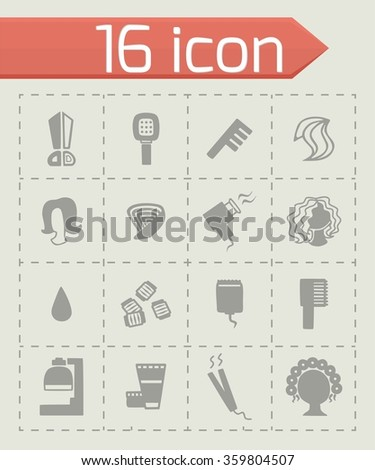 Vector Barber icon set
