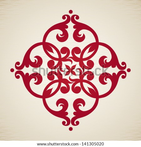 Vector baroque ornament in Victorian style. Element for design. It can be used for decorating of invitations, cards, decoration for bags and clothes, at tattoo creation. - stock vector