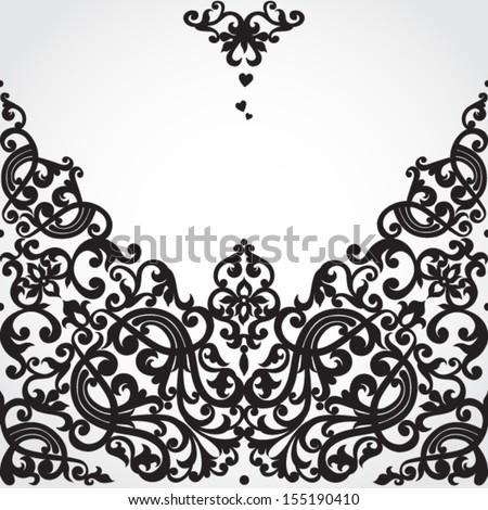 Stock vector vector baroque seamless border in victorian style element