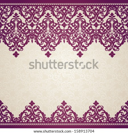 Vector baroque seamless borders in Victorian style  Element for design    Victorian Style Borders