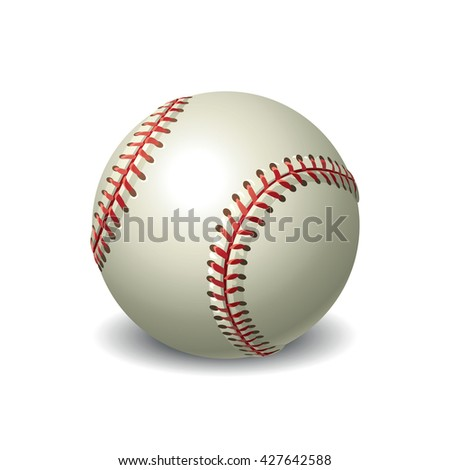 Vector baseball ball isolated on white background - stock vector