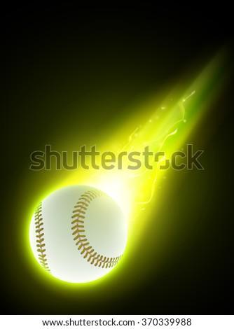 vector baseball illustration - stock vector