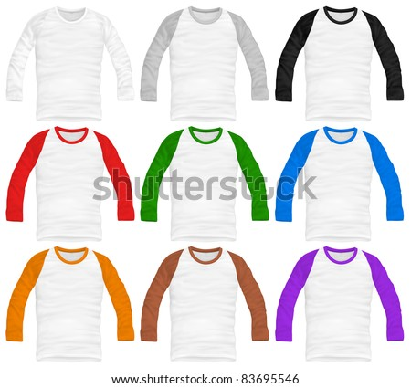 vector baseball shirt design template - stock vector
