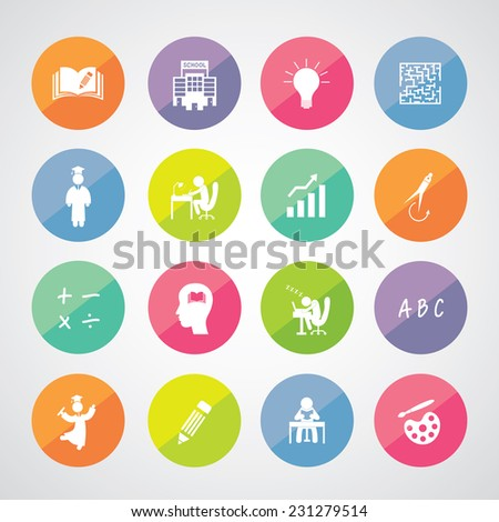 vector basic icon for education  - stock vector