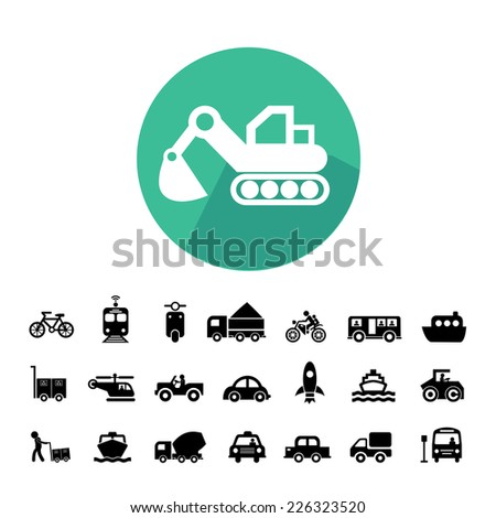 vector basic icon for transport  - stock vector