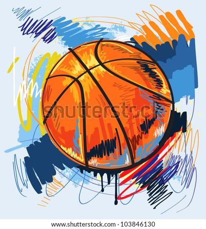 vector basketball - stock vector