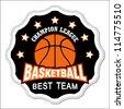 Vector basketball badge / Vector basketball labels / Basketball emblems - stock vector