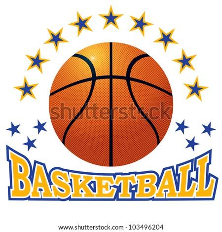 Vector basketball ball. - stock vector