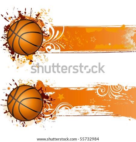 vector basketball design element - stock vector