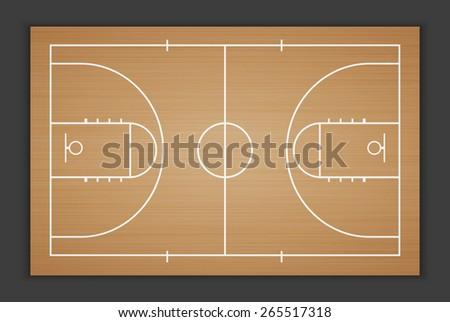 Vector Basketball Field.vector - stock vector