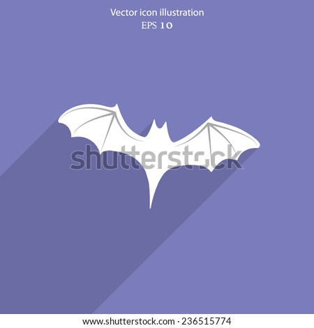 Vector bat icon - Halloween vector illustration. Eps 10. - stock vector