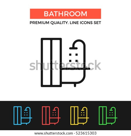 Vector bathroom icon  Premium quality graphic design  Modern signs  outline symbols collection. Bathroom Icon Stock Images  Royalty Free Images  amp  Vectors