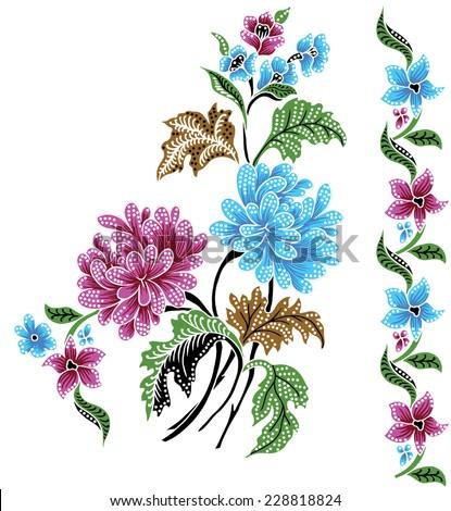 Vector batik. Colorful background. - stock vector