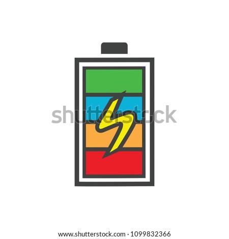 Vector Battery Charging Power Battery Illustration Stock Vector