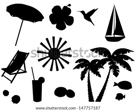 Beach Chair Vector beach chairs stock photos, royalty-free images & vectors