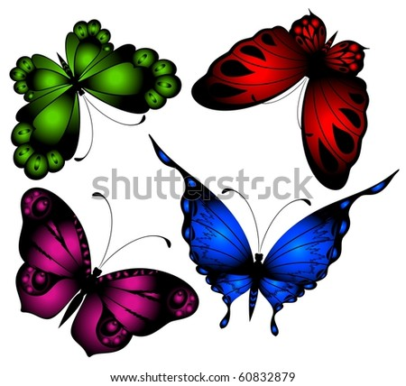 Vector beautiful butterfly for a design
