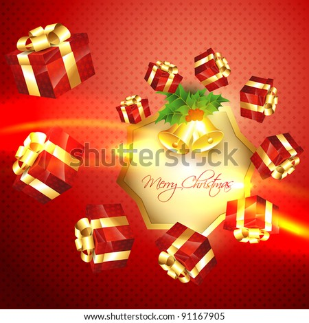 vector beautiful christmas shiny background