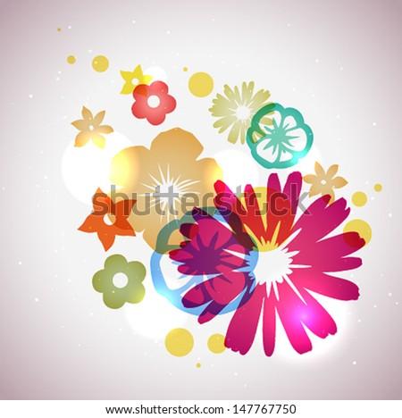 Vector Beautiful Flowers Background - stock vector