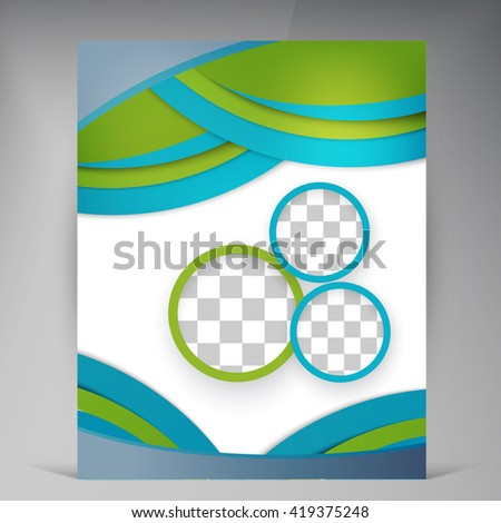 Vector Abstract Template Design Leaflet Flyer Stock Vector