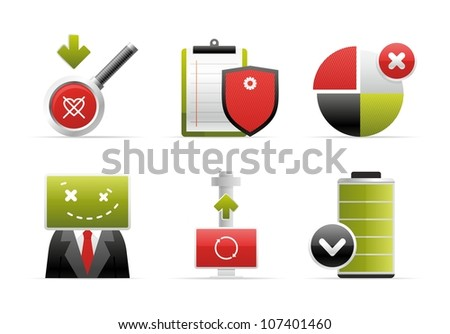vector beautiful icon - stock vector