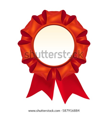 vector red award badge ribbon stock vector 94391233 shutterstock. Black Bedroom Furniture Sets. Home Design Ideas