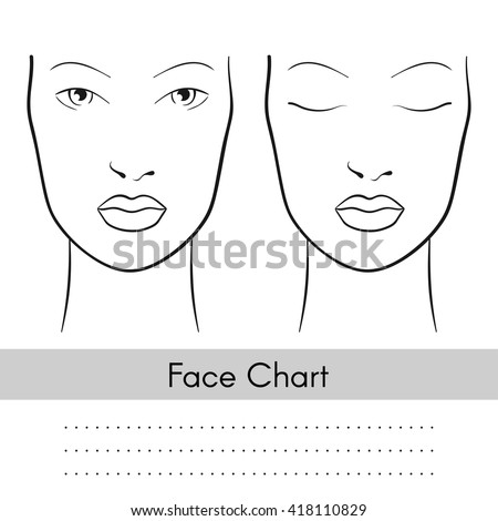 Vector beautiful woman face chart portrait stock vector 418110829 vector beautiful woman face chart portrait female face with open and closed eyes blank pronofoot35fo Gallery