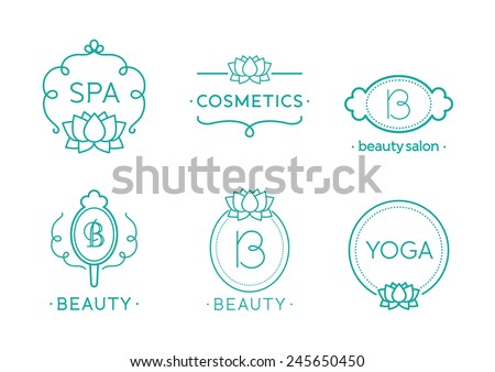 Vector Beauty and Care logo templates - stock vector