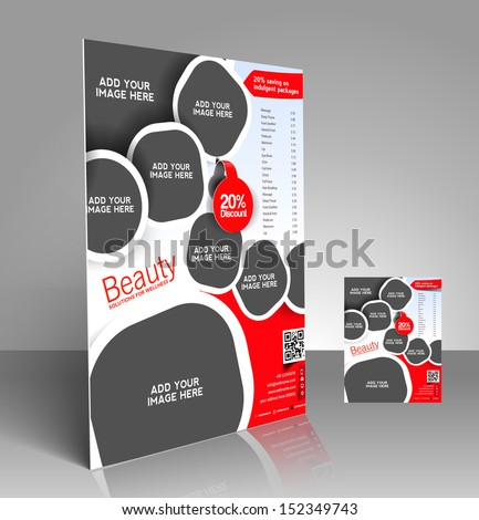 Vector Beauty Salon Price List Flyer Stock Vector - Price list brochure template