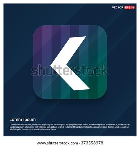 Vector Beck arrow icon - stock vector