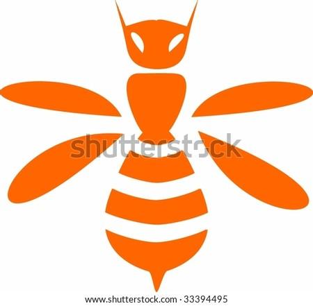 Vector Bee - stock vector