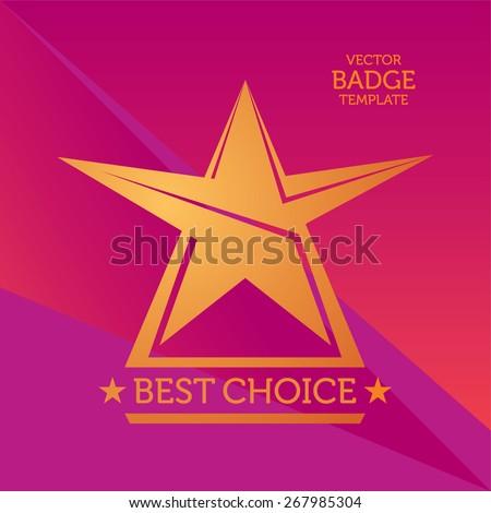 Vector Best Choice Golden Badge - stock vector