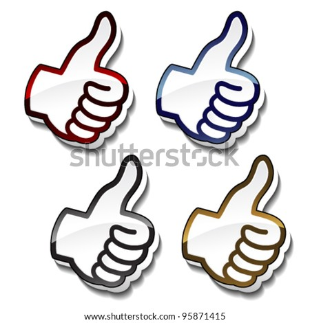 Vector best choice pointers - gesture hand - stock vector