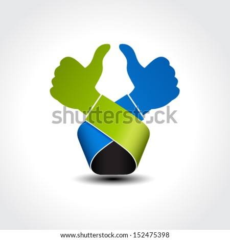 Vector best choice symbol - gesture hand, like icon, okay - stock vector
