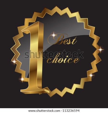 Vector best choice vector label. - stock vector