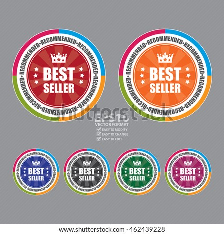 Vector : Best Seller Guarantee Product Label