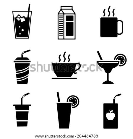 Vector Beverage Icons - stock vector