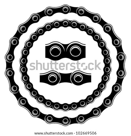 vector bicycle chain seamless silhouettes stock vector 102669506 rh shutterstock com bike chain vector free bike chain vector free