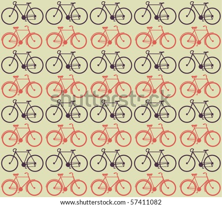 Vector Bicycle Pattern - stock vector