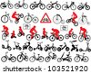 Vector bicycle silhouette set on EPS 8 - stock vector